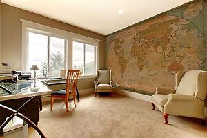 Alte-Weltkarte-braun-XXL-Wanddekoration-Schlafzimmer-336cm-x-238cm