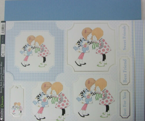 Kanban Paper Craft Toppers Betsie Bob Sweet Friends with free blue pearl card