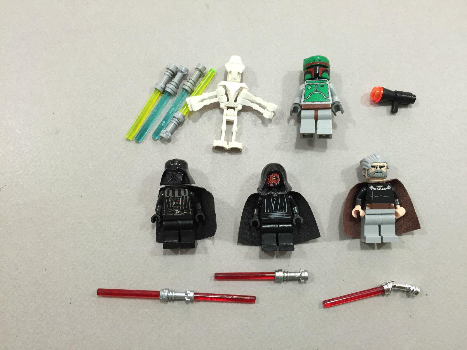 punto vendita LEGO lot 5 Estrella Guerras Bad Guy Minifigs Darth Darth Darth Vader Maul Fett Greivous N145  punto vendita
