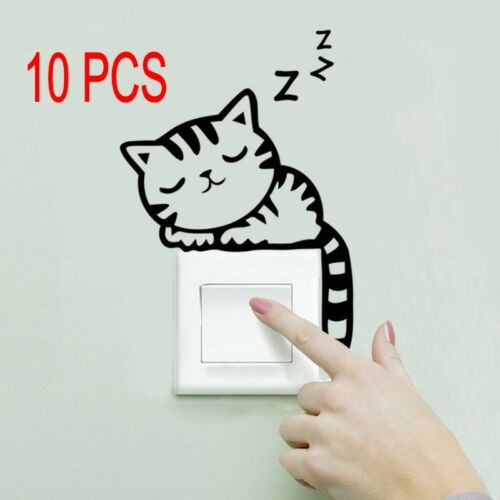 1//2//5 PCS Removable Art Vinyl Quote Cats Wall Sticker Decal Mural Home Decor  OK