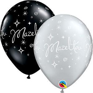 15-2x27-9cm-MAZEL-TOV-elegant-eclat-Ballons-En-Latex-Qualatex-Fete-Decoration