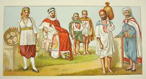 AgréAble Costumes Traditionnels Afrique Africa Urrabietta Firmin Didot Lithographie C1888 Gamme ComplèTe D'Articles