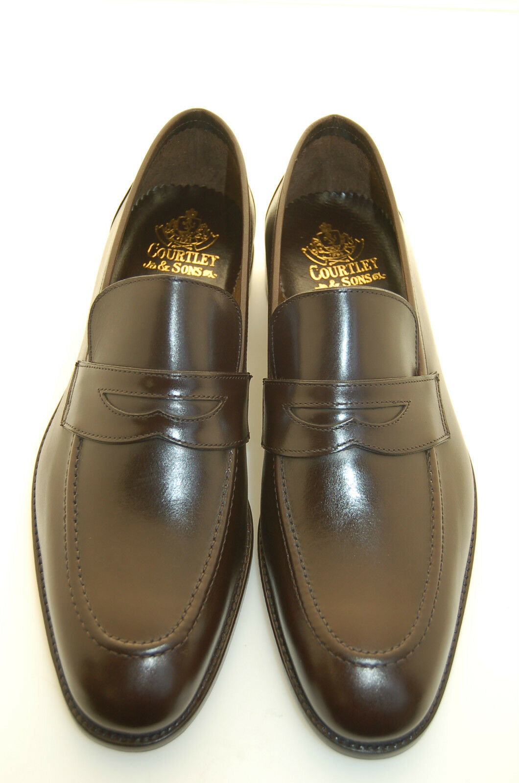MAN - PENNY LOAFER-HEA BROWN CALF-MOCASSINO VITELLO black-LEATHER SOLE-BLAKE CSTN