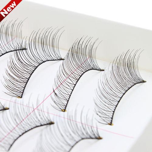 10 Pairs Makeup Handmade Natural Long False Eyelashes Fake Eye Thick Lashes ui