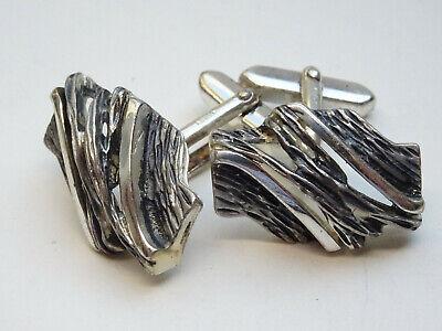 Modernist Design Manschettenknöpfe 800 Silber Cuff Links Nr. 2