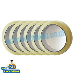 72-Rolls-sellotape-24mm-x-66m-1-inch-Wide-Clear-Parcel-Packing-Packaging-Tape