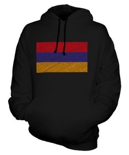 Arménie Griffonnage Drapeau Sweat à Capuche Unisexe Haut Cadeau Hayastán