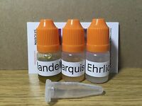 Marquis Mandelin And Ehrlich Reagent.three Bottles With Id Cards And Tube