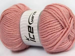 Lot-of-4-x-100gr-Skeins-Ice-Yarns-ALPACA-GOLD-25-Alpaca-25-Wool-Wool-Rose