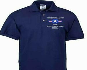 MOODY AIR FORCE BASE GEORGIA  USAF EMBROIDERED POLO SHIRT/SWEAT/JACKET.