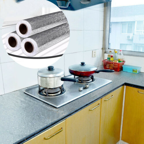 Waterproof Oil-proof Self Adhesive Aluminum Foil Wall Sticker//Home//Kitchen//Decor