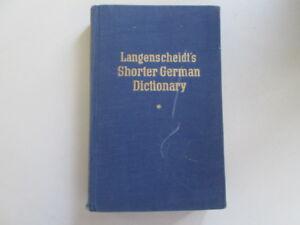 Acceptable-Langenscheidts-Shorter-German-Dictionary-Klatt-1956-01-01-This-is