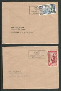 Enthousiaste 1957 Monaco Timbre Sur 2 Lettres /l1933