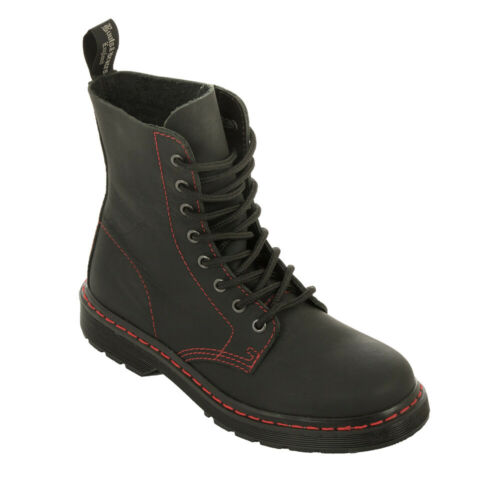 Boots /& Braces 8-Loch Stiefel Easy Way mit roter Naht ohne Stahlkappe