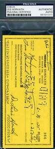 Les Horvath Psa Dna Coa Autograph Check Hand Signed Authentic Heisman