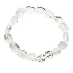 CHARGED-Amplifier-Quartz-Crystal-Bracelet-Tumble-Polished-Stretchy-REIKI-Healing