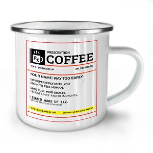 Coffee Prescription NEW Enamel Tea Mug 10 oz | Wellcoda