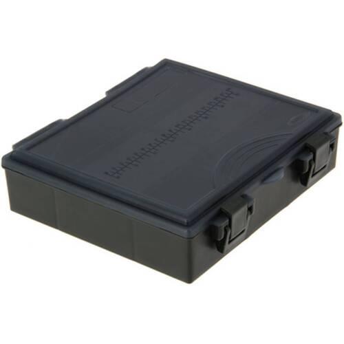 1 noir Neuf Ngt Pêche Tackle Box avec 4 bits Boîtes terminal carpe Tackle 4