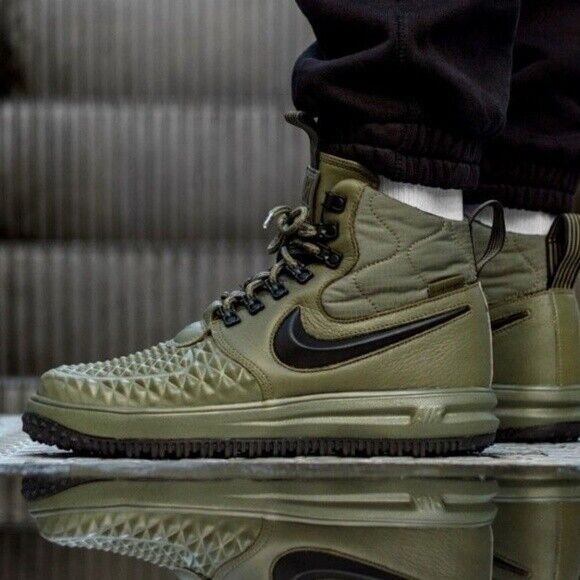 52632142818f Nike Lf1 Lunar Force 1 Duckboot 17 Mens Shoe Size 8.5 916682-202 Olive  Green for sale online