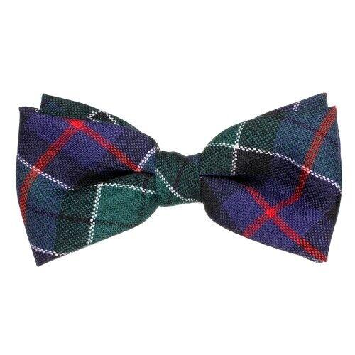 Tartan Republic Scottish Pure Wool Leslie Modern Hunting Tartan Elastic Bow Tie