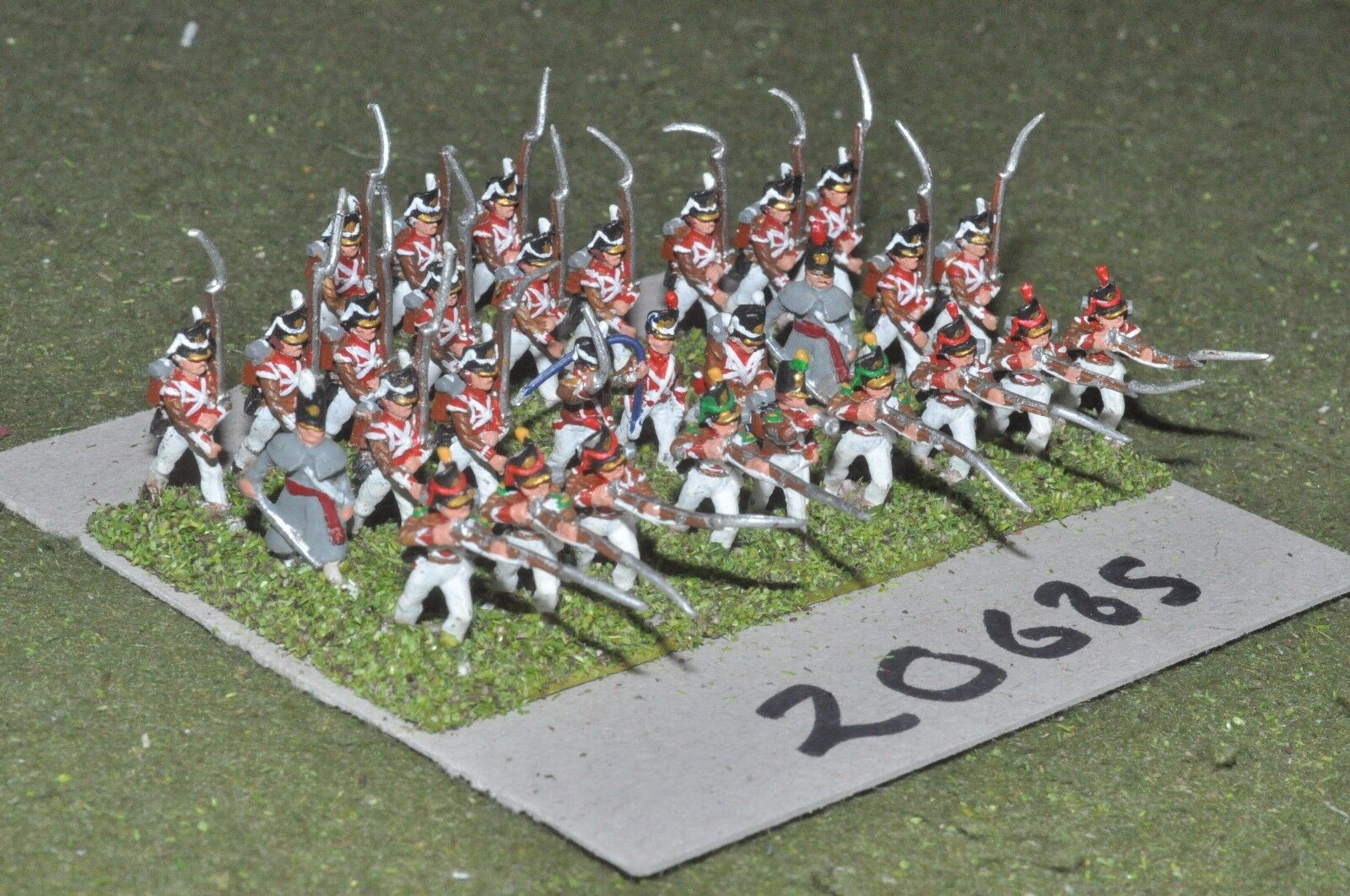 15mm napoleonic   portugese - infantry 30 figs - inf (20685)