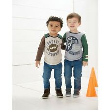 Mud Pie Baby Boys Toddler Halloween Long Sleeve Waffle Weave Raglan T-Shirt