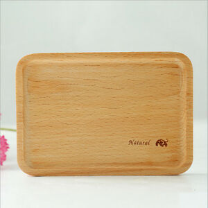 4pcs-Wooden-serving-plate-breakfast-plate-food-Little-plate-Tea-tray-plate-New