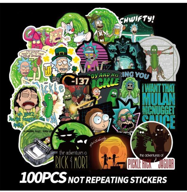 50pcs Rick /& Morty Pickle Stickers Pack Waterproof Laptop Phone Car Decal Vinyl