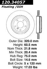 Power Slot Slotted Brake Rotor fits 2001-2006 BMW 330Ci 330i,330xi  POWER SLOT