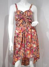 BAND OF GYPSIES Urban Outfitters MULTI COLOR Strap MULLET Dress RUCHED Back L