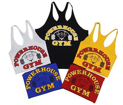 Royal Blue Gold Discreet Powerhouse Gym Stringer Tank Top In Black White- New Refreshing And Beneficial To The Eyes Red