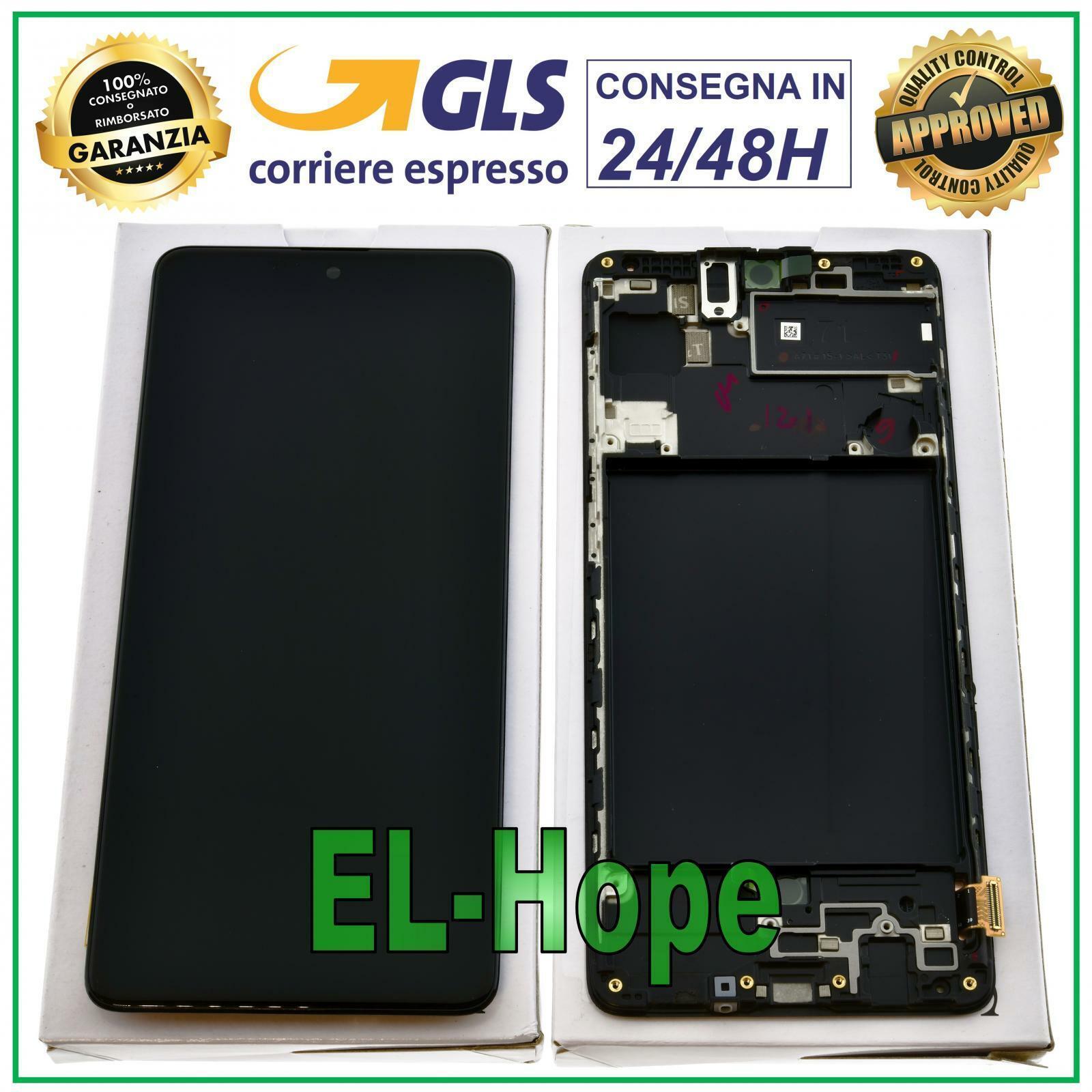 Samsung Galaxy: DISPLAY LCD + FRAME ORIGINALE SAMSUNG GALAXY A71 SM-A715F TOUCH SCREEN 6.7″ NERO