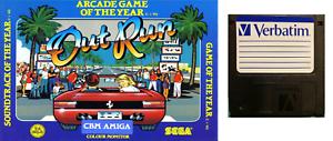 Adroit Out Run : Game Commodore Amiga Floppy Disc (copy On Verbatim)