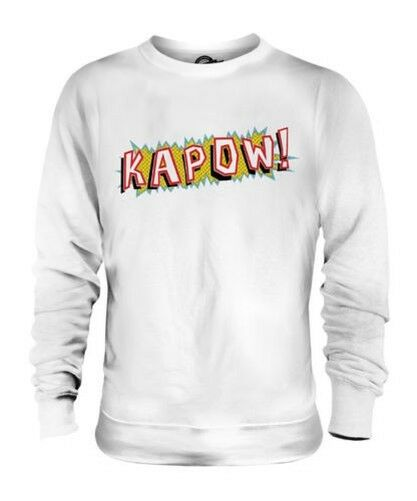 Bd Kapow Drôle Unisexe Geek Pull Imprimé Rétro 80s 90s Hipster Swag Mode