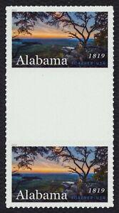 #5360 Alabama Statehood, Horizontal Gutter Par [2 ], Nuevo Cualquier 5=
