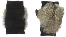 100% AUTHENTIC Rudsak Aisha Fingerless Gloves Black with Natural Fur Size XS/S
