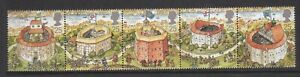 GB-GREAT-BRITAIN-1995-GLOBE-THEATRE-STRIP-NEVER-HINGED-MINT