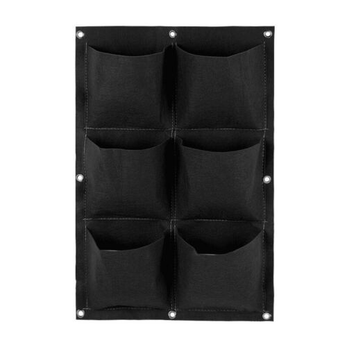 Multi-pockets Wall Hanging Green Plant Planting Bags Garden Living Grow Bags