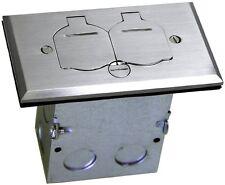 Caja Electrica 1-Gang Floor Box Duplex 20A Receptacle Outlet Steel - TOPGREENER