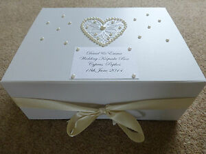 Details About Large Ivory Wedding Keepsake Box Personalised Memory Box Ivory Pearl Stunning