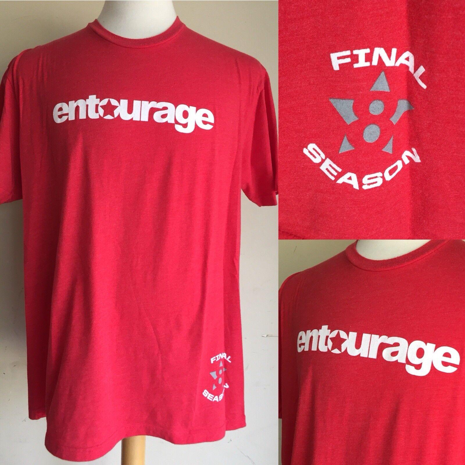 ENTOURAGE HBO Final Season 2011 SUPER RARE CAST & CREW ONLY Season 8 T-Shirt XL