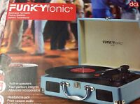 Funkyfonic Blue Briefcase Turntable