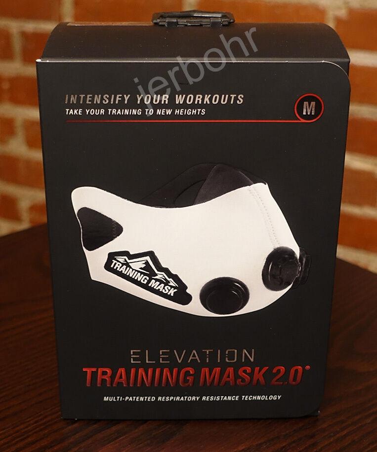 Elevation Training Mask 2.0 WHITE - Medium - High Altitude MMA Fitness
