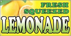 fresh squeezed lemonade vinyl banner sign concession food drink 2x4