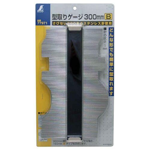 New SHINWA 300mm measurement moulage gauge ruler form contour model 77971 JAPAN