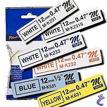 BROTHER M-K232 Band rot auf weiß 12mm x 8m f P-touch 80 85 90 110 BB4 MK232
