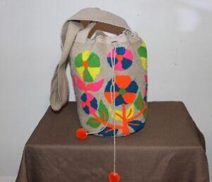 100 Colombiaanse Wayuu Bolso Authentieke Mochila Tas td6Oxwgnq