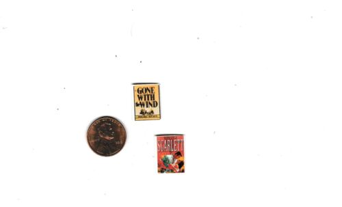 Gone with the Wind & Scarlett dollhouse miniature books