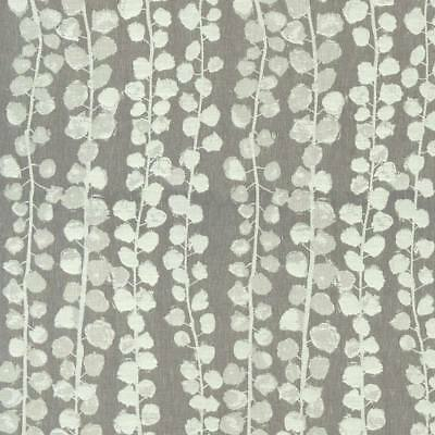 STUDIO G 100/% COTTON CURTAIN FABRIC//CRAFT OCTAVIA Charcoal CLARKE and CLARKE