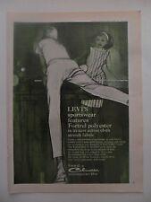 1964 Print Ad Levi's Sportswear Clothing Fashion ~ Ping Pong Table Tennis Art